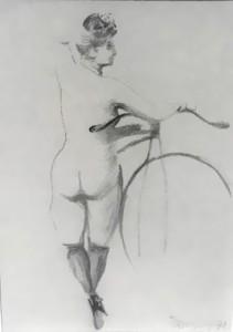 Harold Barling Town Charcoal Drawing