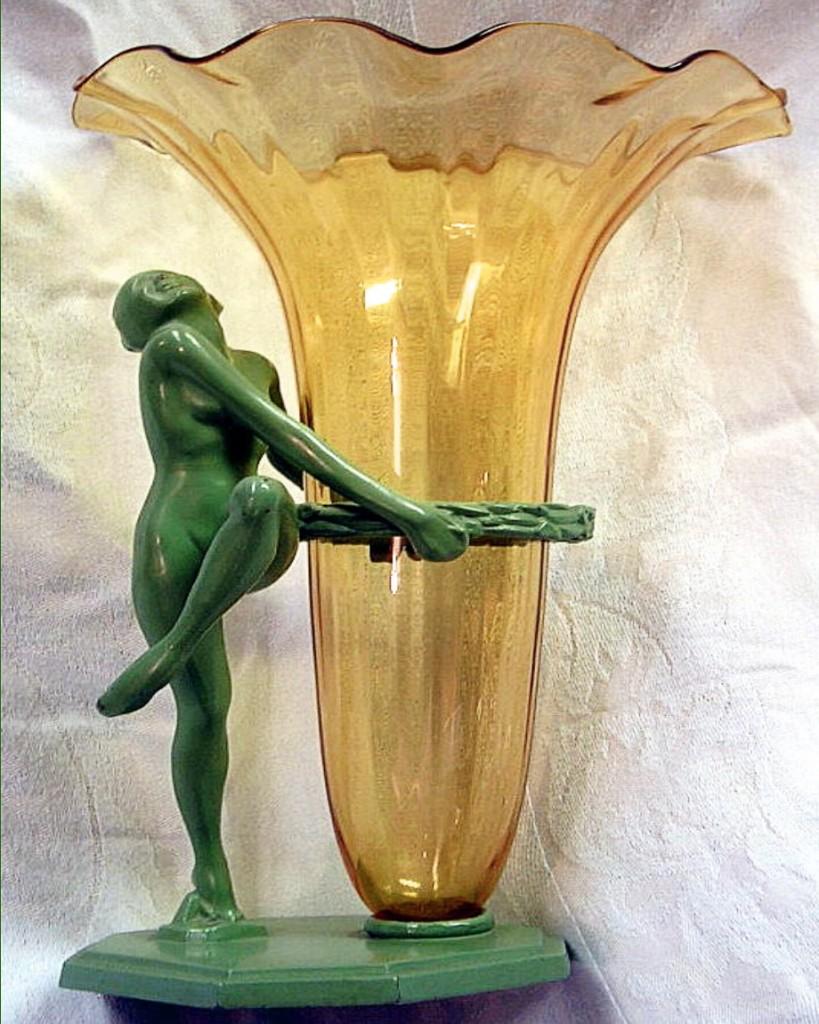 Art Deco Nouveau Bronze statues